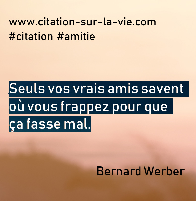 citation- amitie vrais amies
