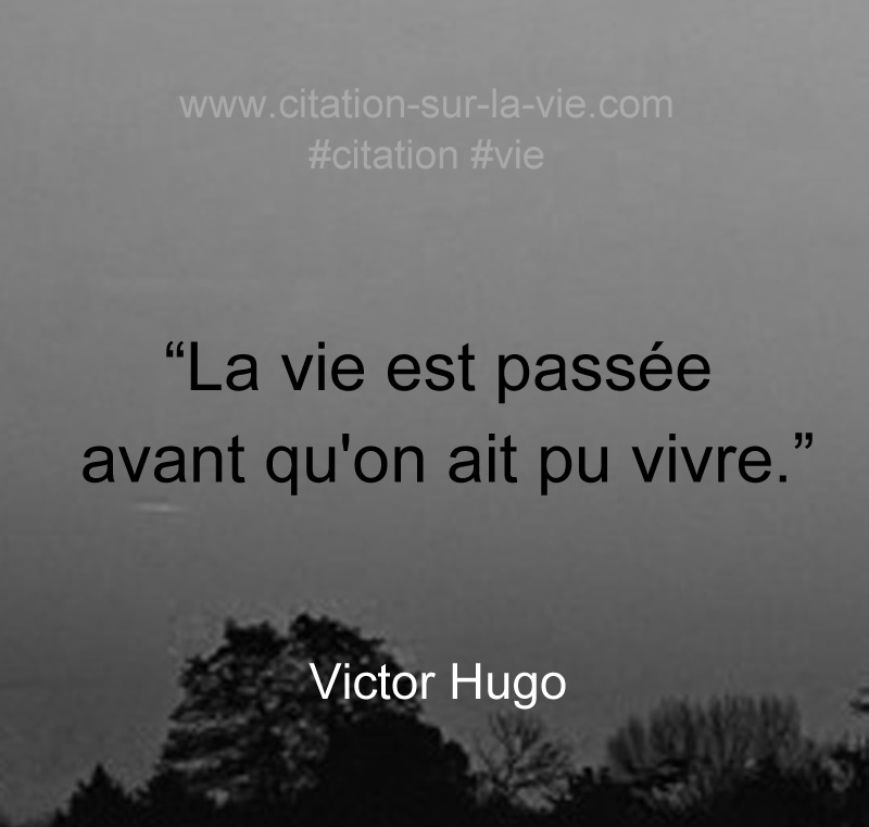 citation vie qui passe