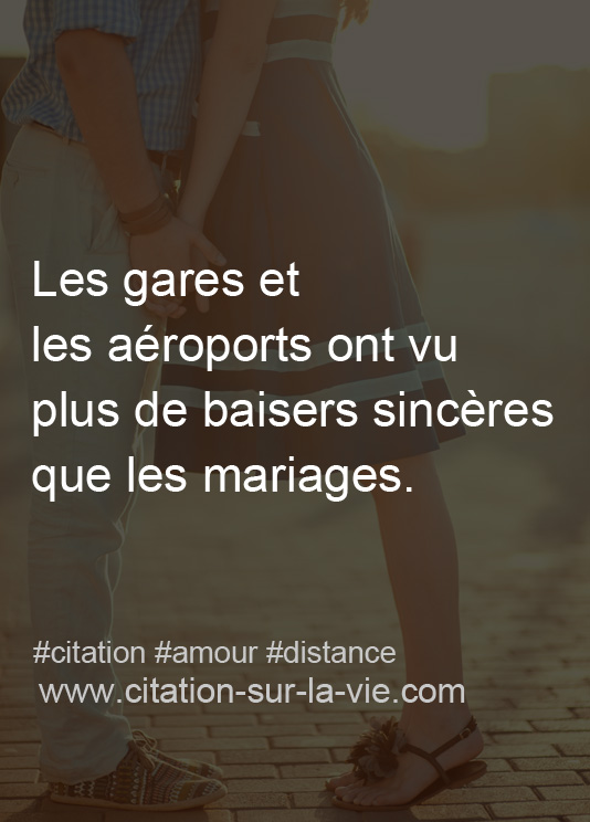 citation amour distance
