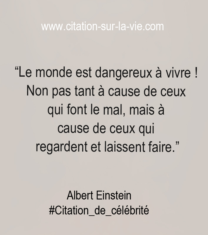 citation albert einstein sur le monde