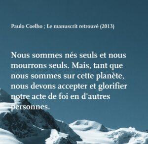 Paulo Coelho citation nes seuls