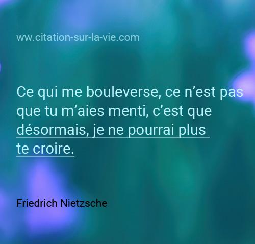 citation amour triste Nietzsche
