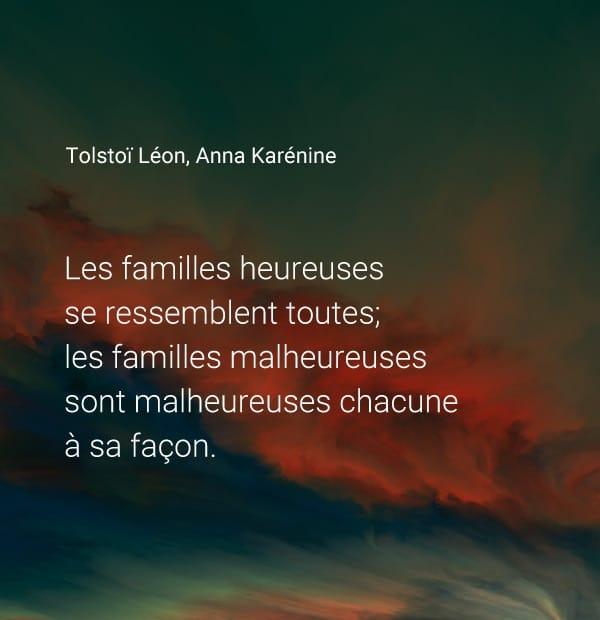 citation famille heureuses