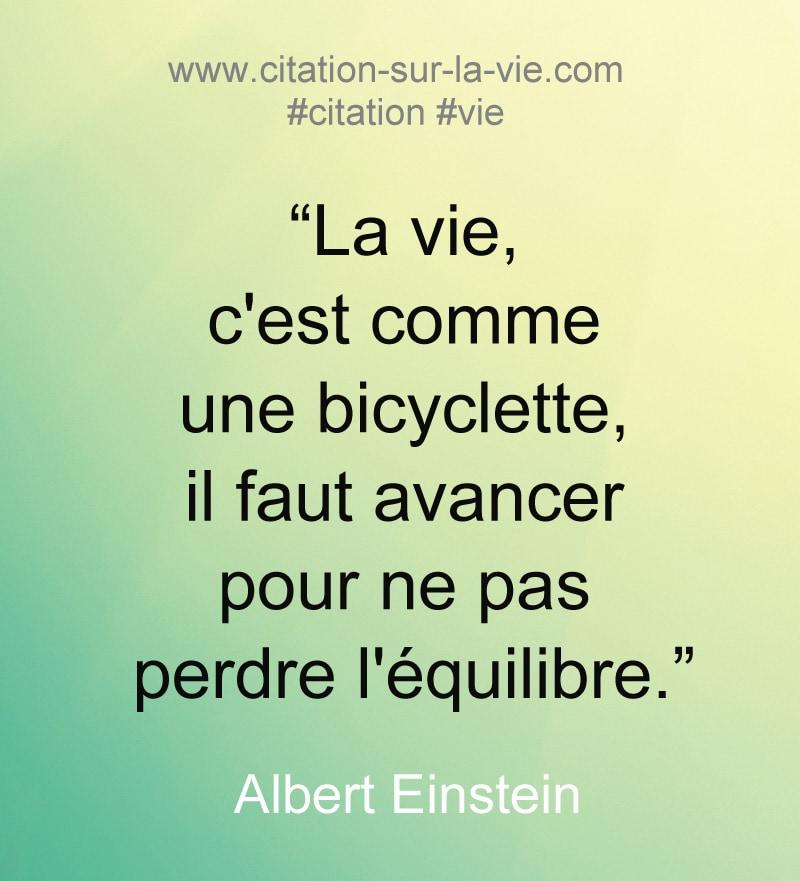 citation vie byciclette