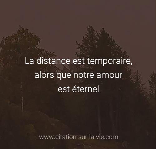 distance amour citation