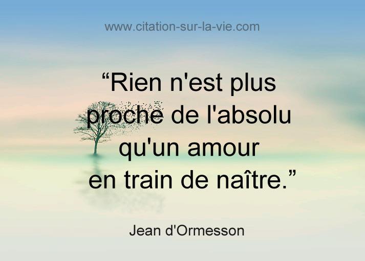 texte d-amour ormesson