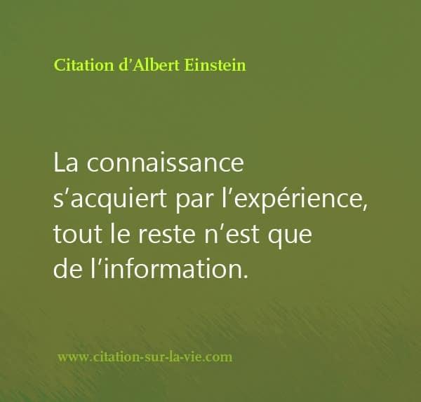 Citation d-Albert Einstein